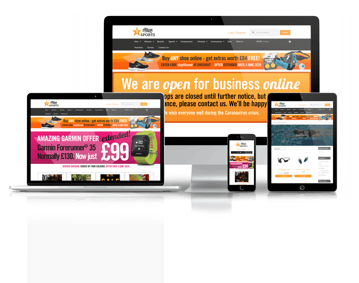Alton Sports Website Showcase Responsive Screens